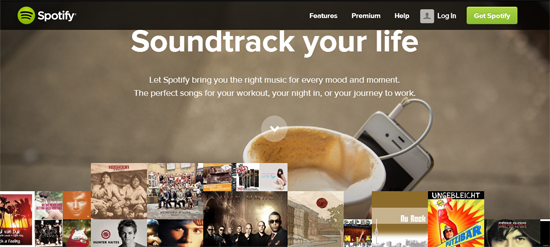 Spotify AT&T Native Advertising Example