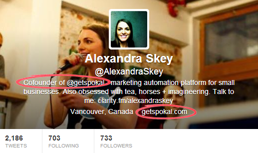 Alexandra Skey - Twitter Bios That Convert Customers