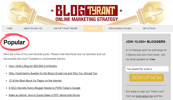 Best of Blog Tyrant - How To Write A Blog Post Without Doing Any Work