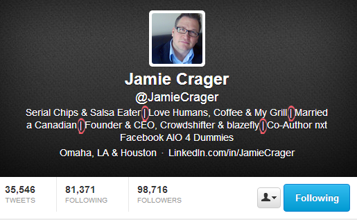Jamie Crager - Twitter Bio That Converts Customers