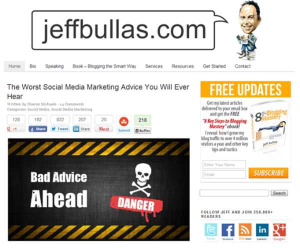 Top 7 Content Marketing Blogs To Read In 2014 - Jeff Bullas Blog