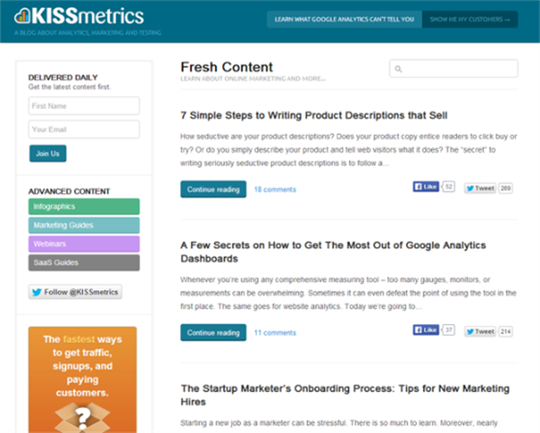 Top 7 Content Marketing Blogs To Read In 2014 - KISSmetrics