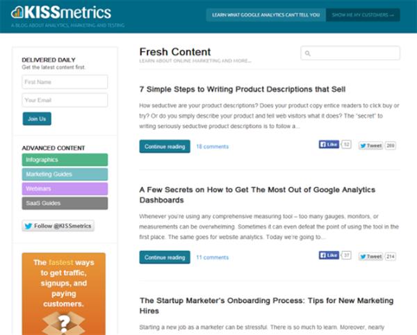 Top 7 Content Marketing Blogs To Read In 2014 - KISSmetrics
