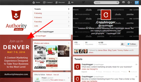 5 Tricks To Creating A High Converting Twitter Background - Include A Strong Call To Action