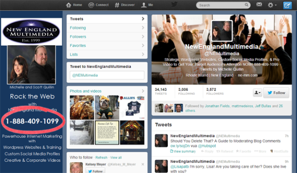 5 Tricks To Creating A High Converting Twitter Background - Show Your Calling Card