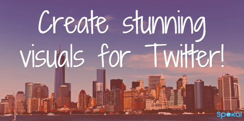 Create stunning visuals for Twitter
