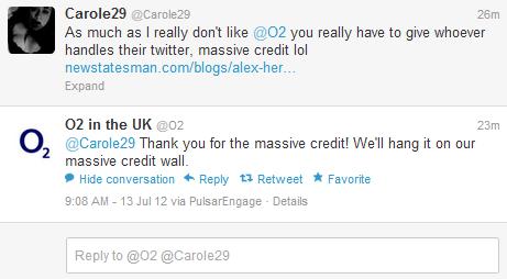 social media crisis O2