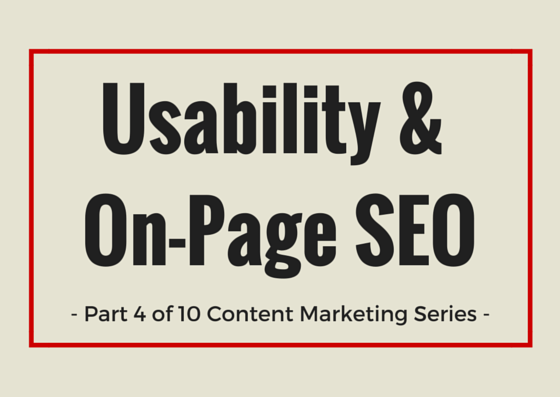 usability and on-page SEO