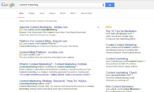 beginner's guide to online paid advertising - google example