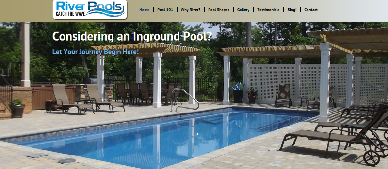 River Pools And Spas - Powerful Content Marketing Examples