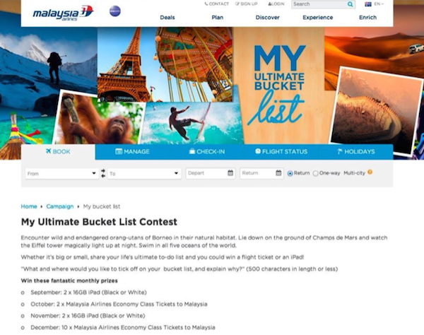 """ Read With Caution: 15 Of The Absolute WORST Marketing Campaigns From 2014 - malaysia airlines"