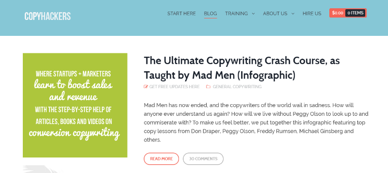 Copyhackers blog - Top 8 Content Marketing Blogs To Read in 2015