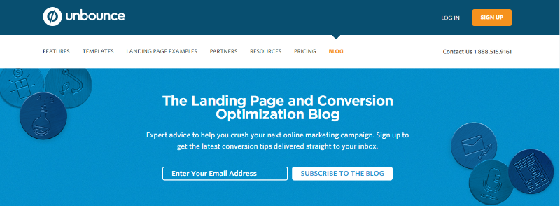 unbounce blog - Top 8 Content Marketing Blogs To Read in 2015