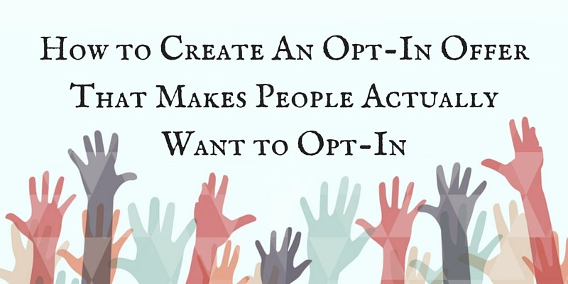 how to create an opt-in