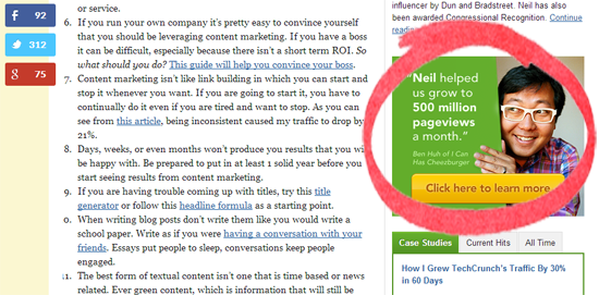 Neil Patel Blog - Blog Posts That Convert Readers To Customers