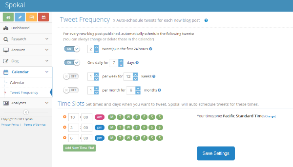 tweet frequency