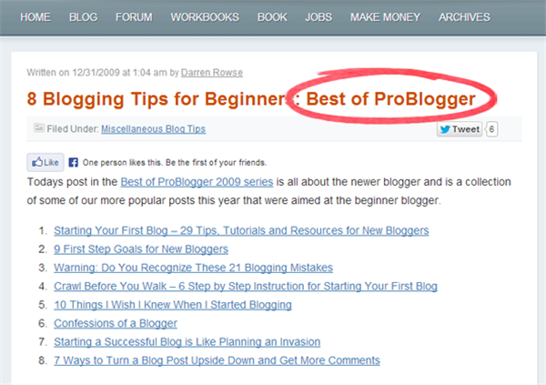 Best of ProBlogger - How To Write A Blog Post Wihout Doing Any WOrk
