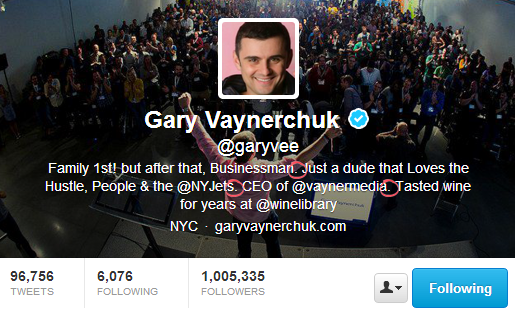 Gary Vaynerchuk - Twitter Bio That Converts Customers
