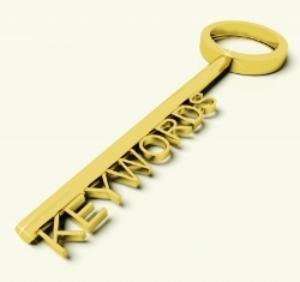 The basics of SEO - key with the word keywords