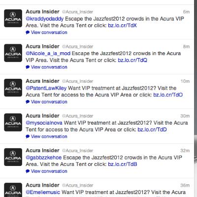 Acura social media automation example