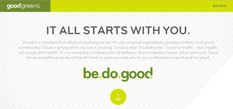Good Greens - Most powerful content marketing examples