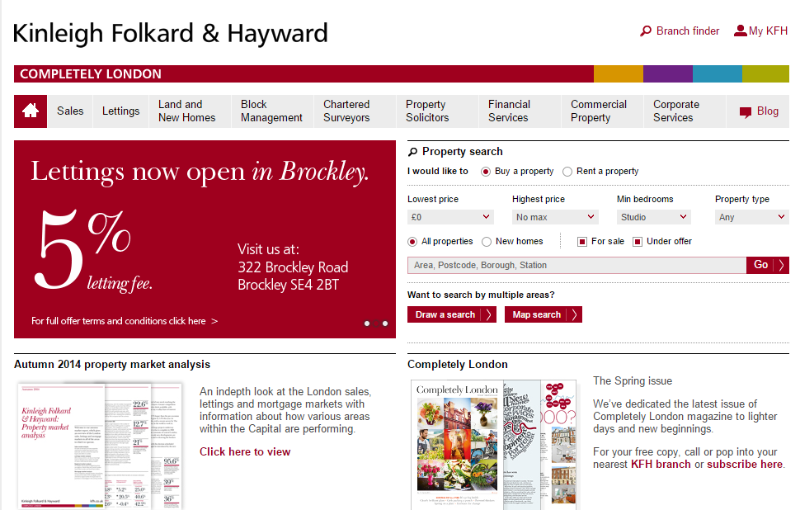 kinleigh folkard & hayward - most powerful content marketing examples