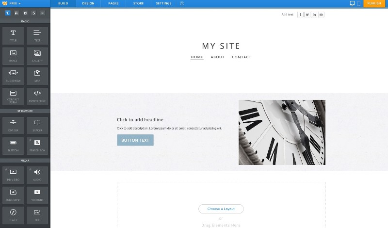 Weebly Interface Builder