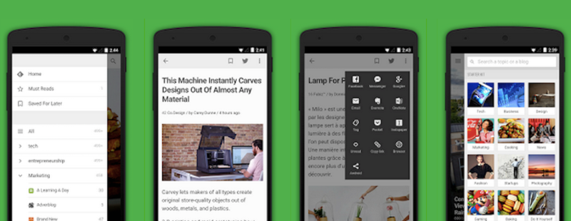 How to find content Feedly