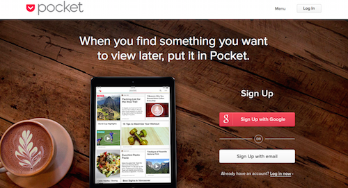 How to find content Pocket