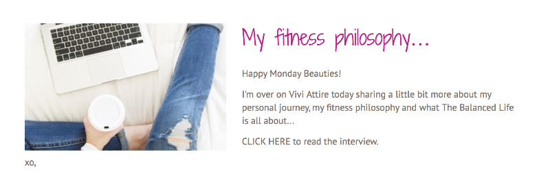 The Balanced Life Blog
